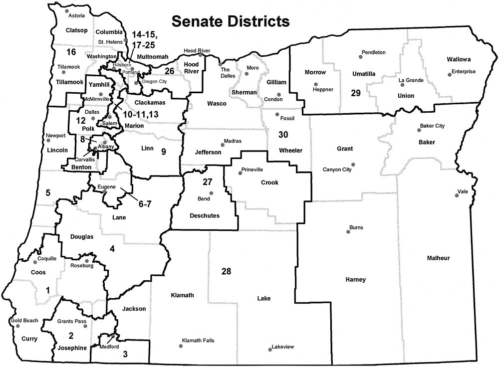2017 Oregon House Of Representatives Map Oregon State Representatives Map Oregon Us House Of Representatives District Map